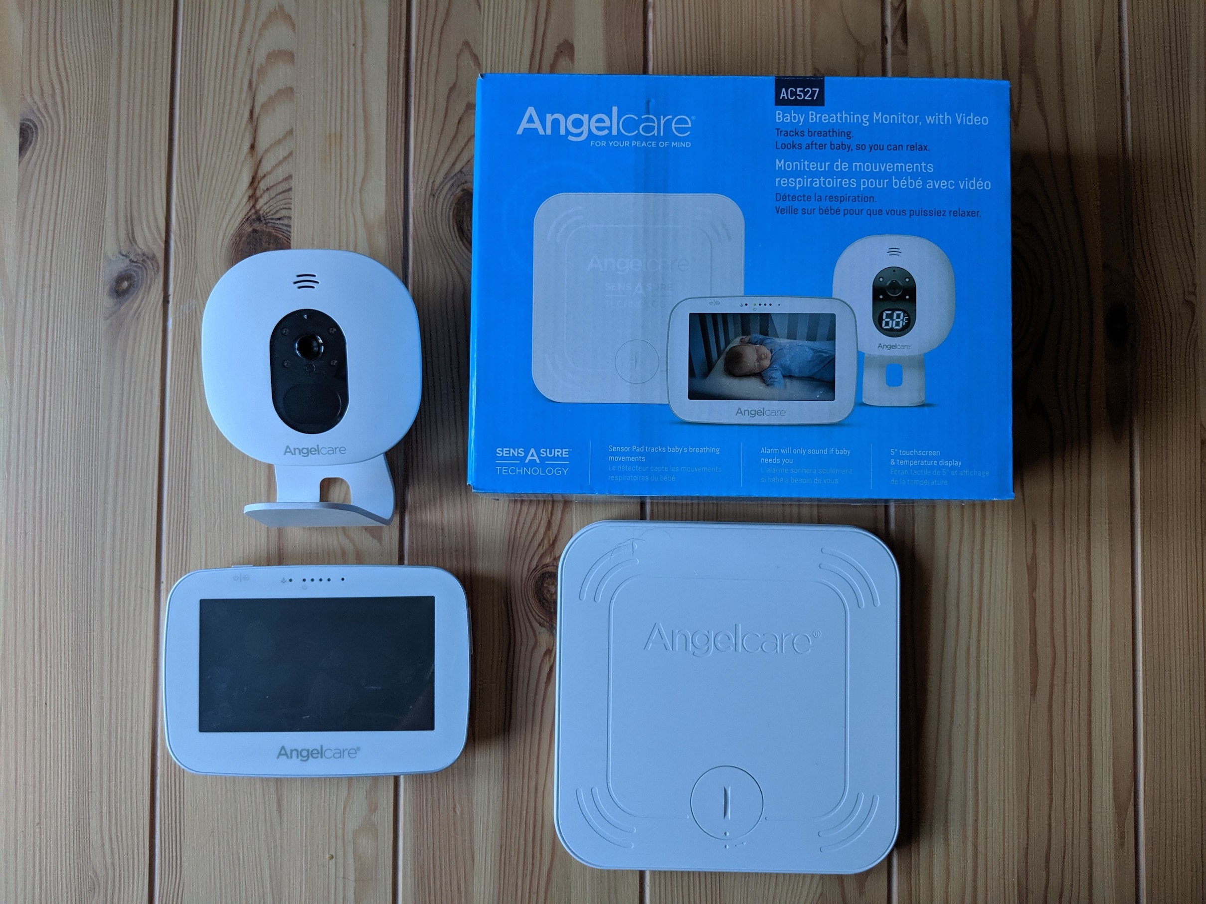 Angelcare Baby Breathing and Video Baby Monitor devices