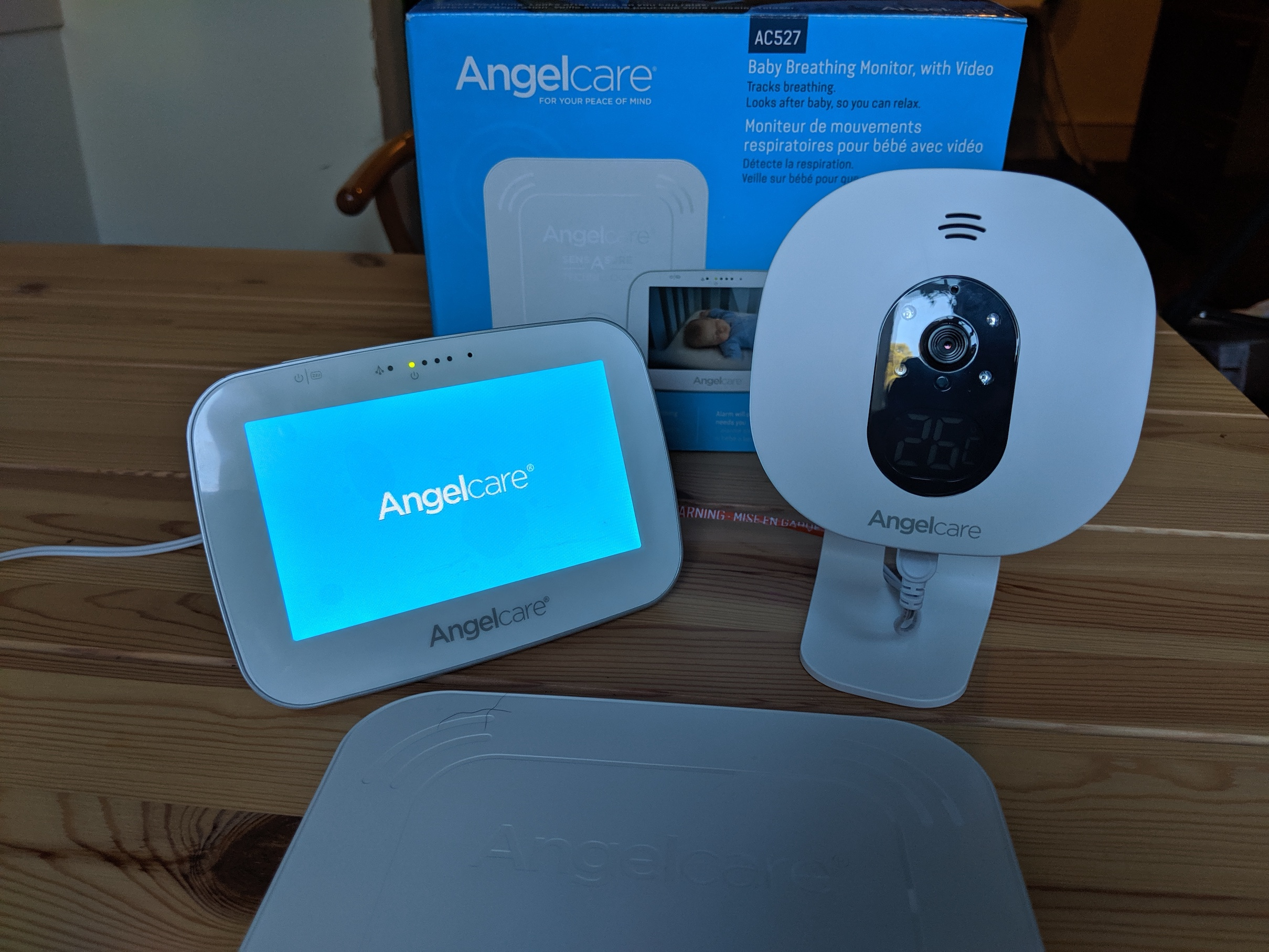Angelcare Baby Breathing and Video Baby Monitor Parent Unit