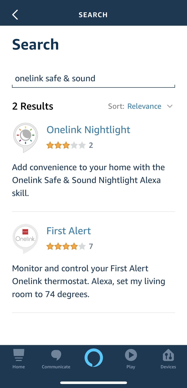 Alexa skills onelink