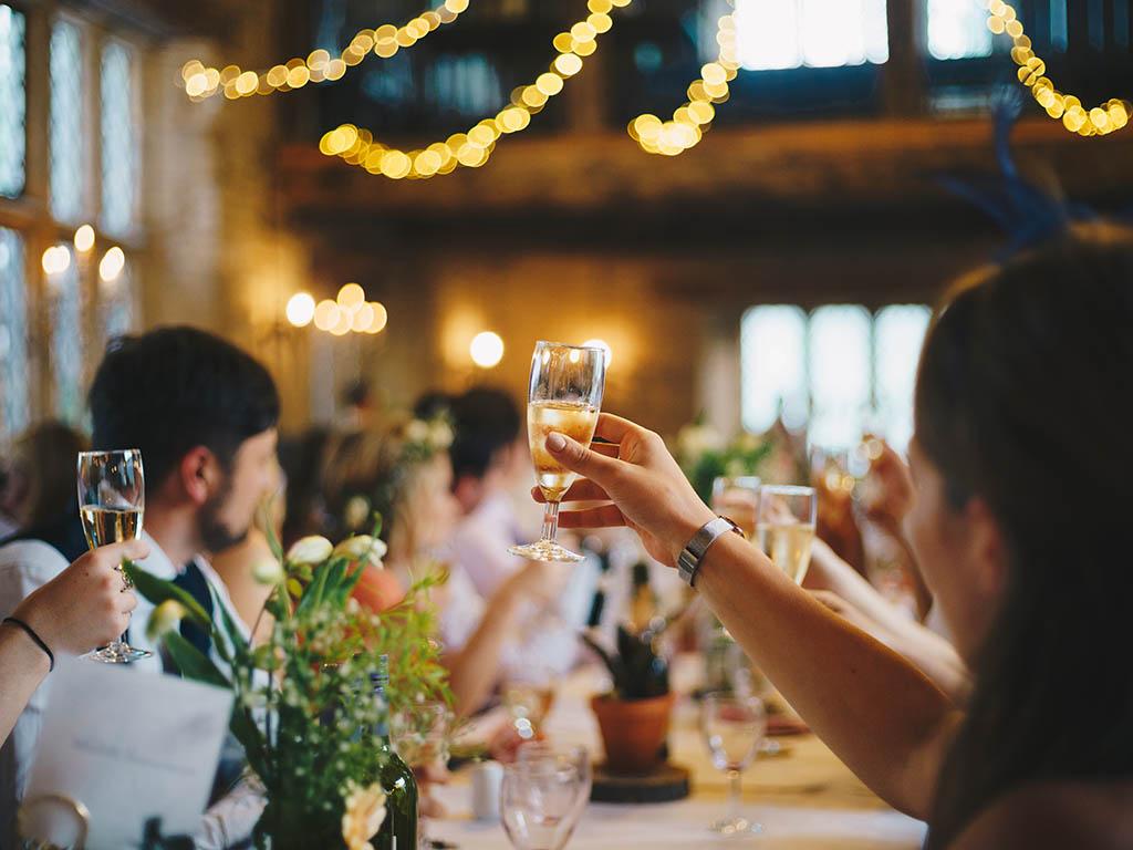 A photo of a wedding celebration