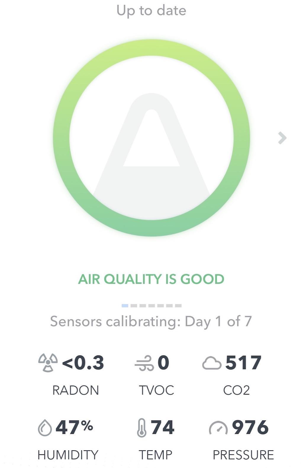 Airthings app