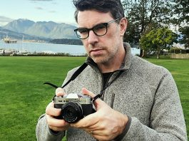 Photographer Justin Morrison shooting with the Fujifilm X-T30
