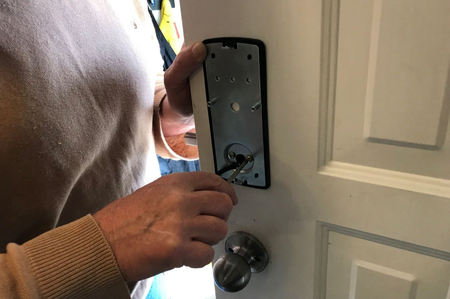 installing the Lockly secure pro smart locks