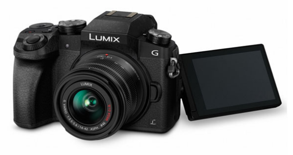 A photo of the Panasonic Lumix G7  Mirrorless Camera with 14-42mm Lens