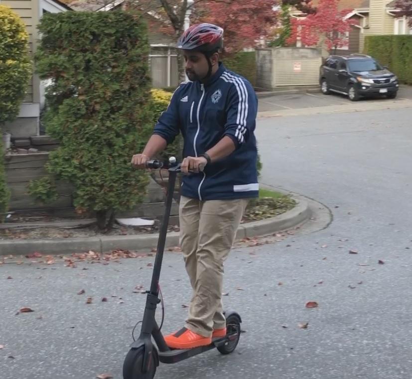 Mi Electric Scooter Matt Riding