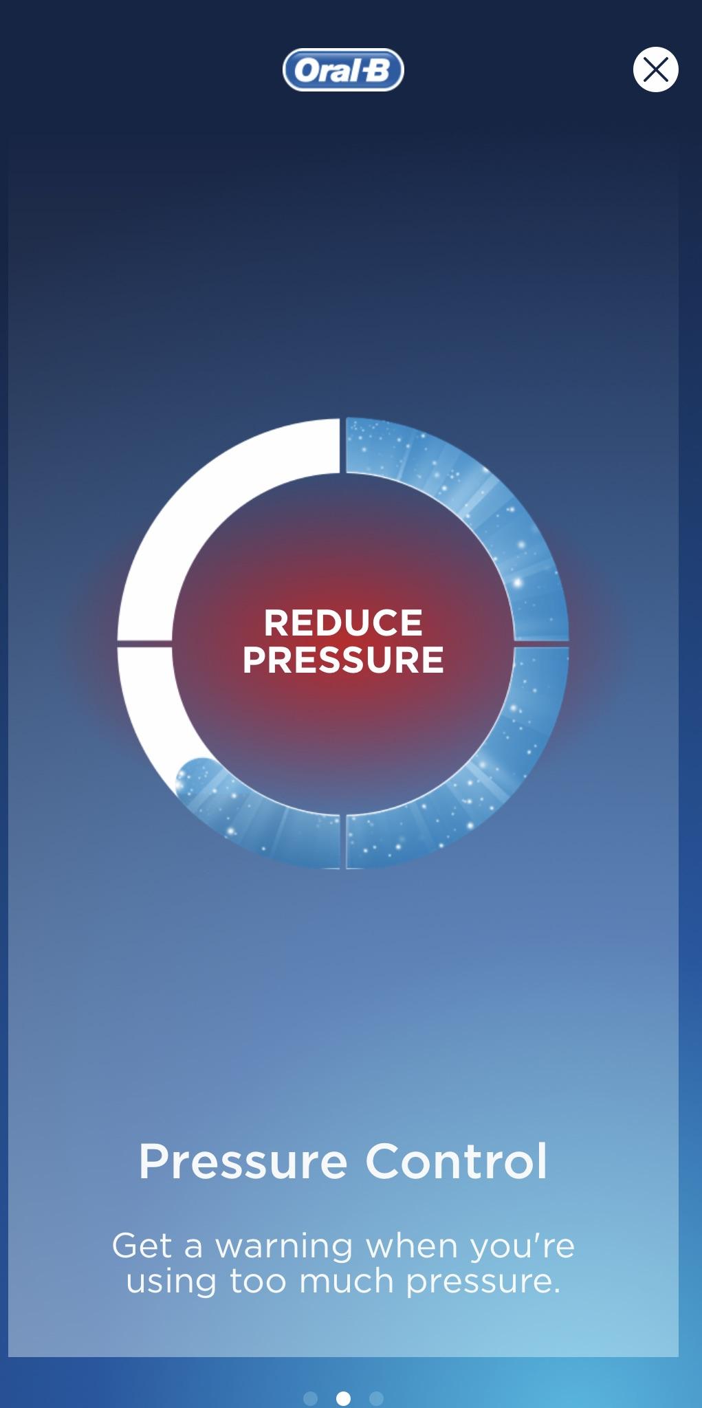 Reduce pressure oral-b