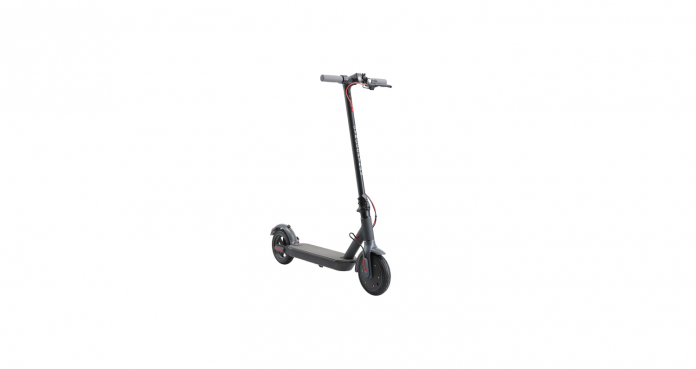 A head-on, angled view of the Gyrocopters flash portable electric scooter on a white background.