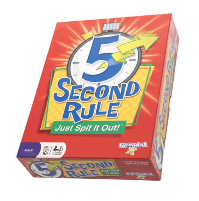 gifts for hostess - 5 second rule game