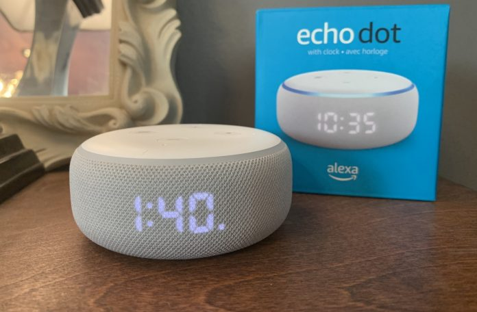 amazon, echo dot, clock, review