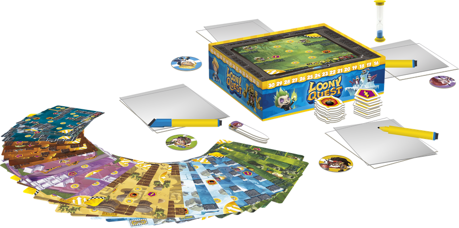 Game shot of the board game, Loony Quest (new board games)