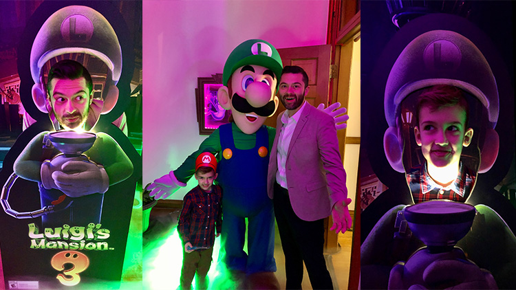 Nintendo Switch Playhouse - Luigi Scared Selfie