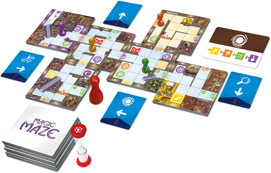 Game shot of the board game, Magic Maze (new board games)