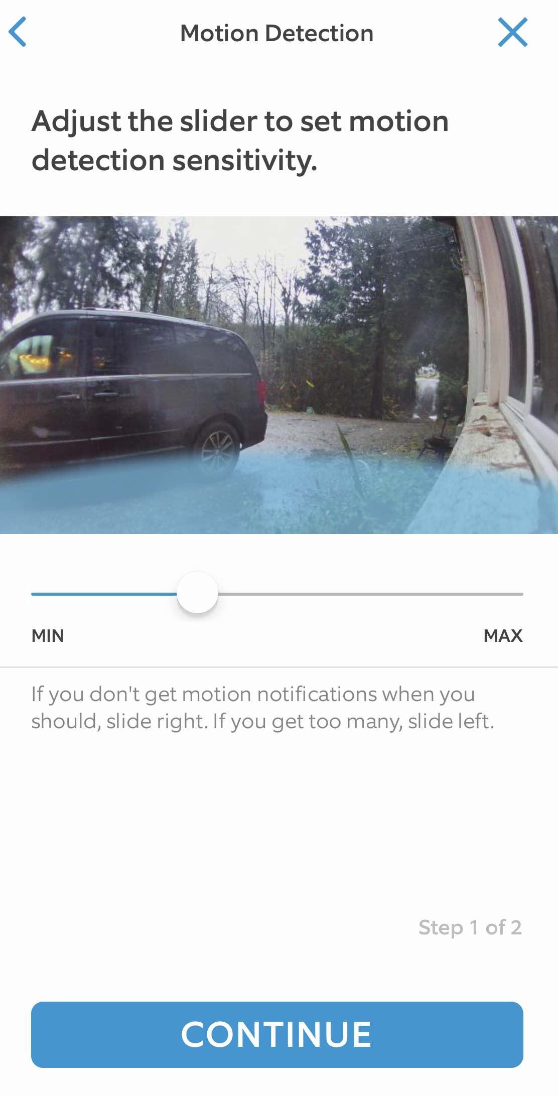 Ring Cam Motion Sensitivity