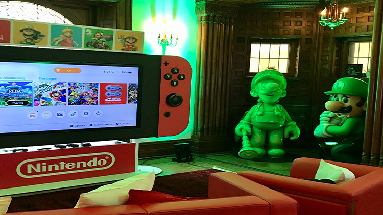 Nintendo Switch Playhouse - Luigi and Giant Switch