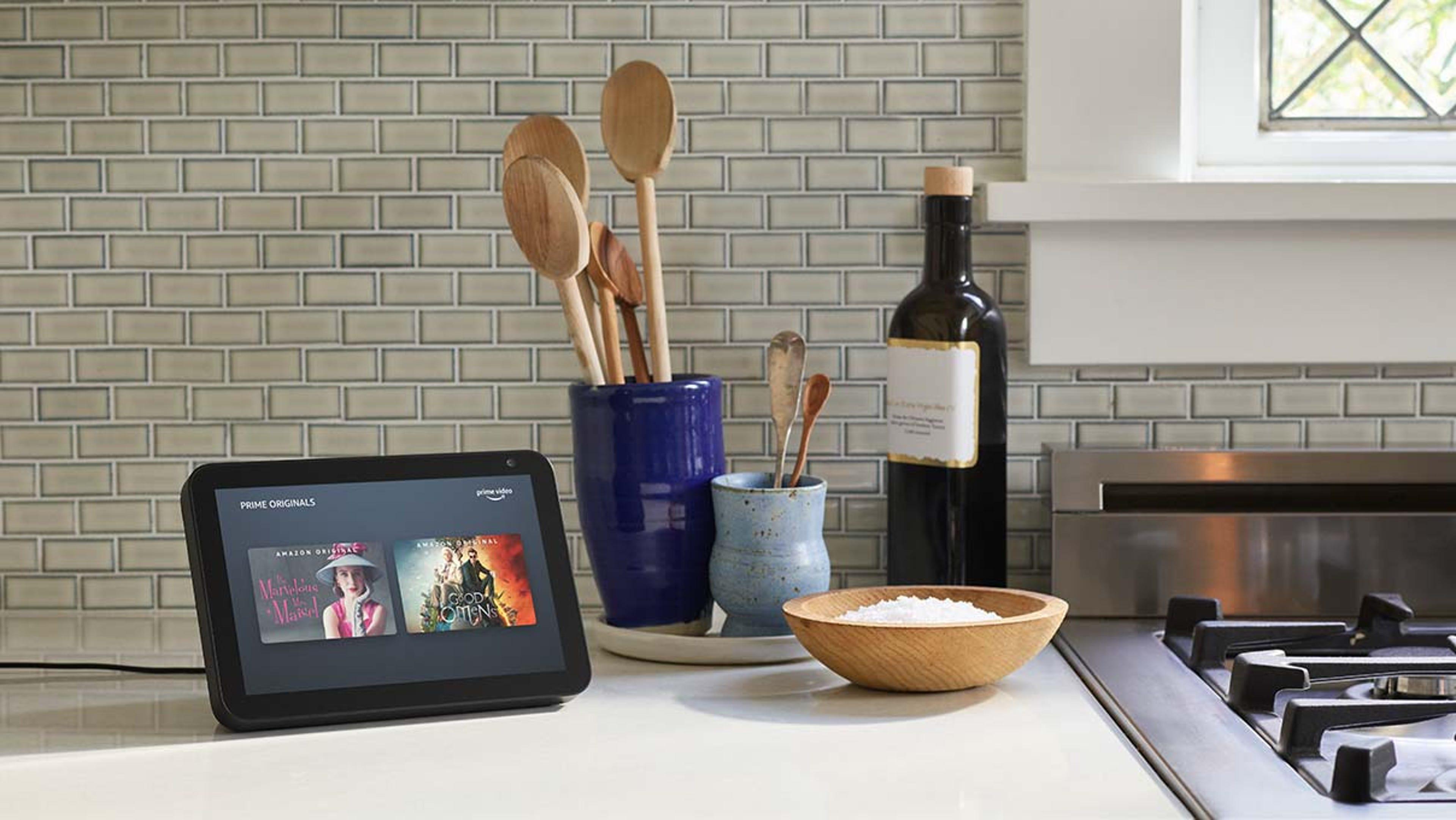 amazon echo show in kitchen smart display