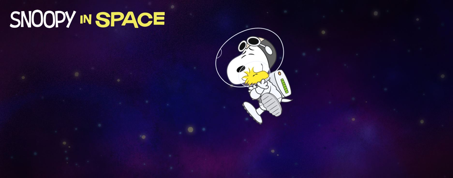 title card of snoopy in space from apple tv+