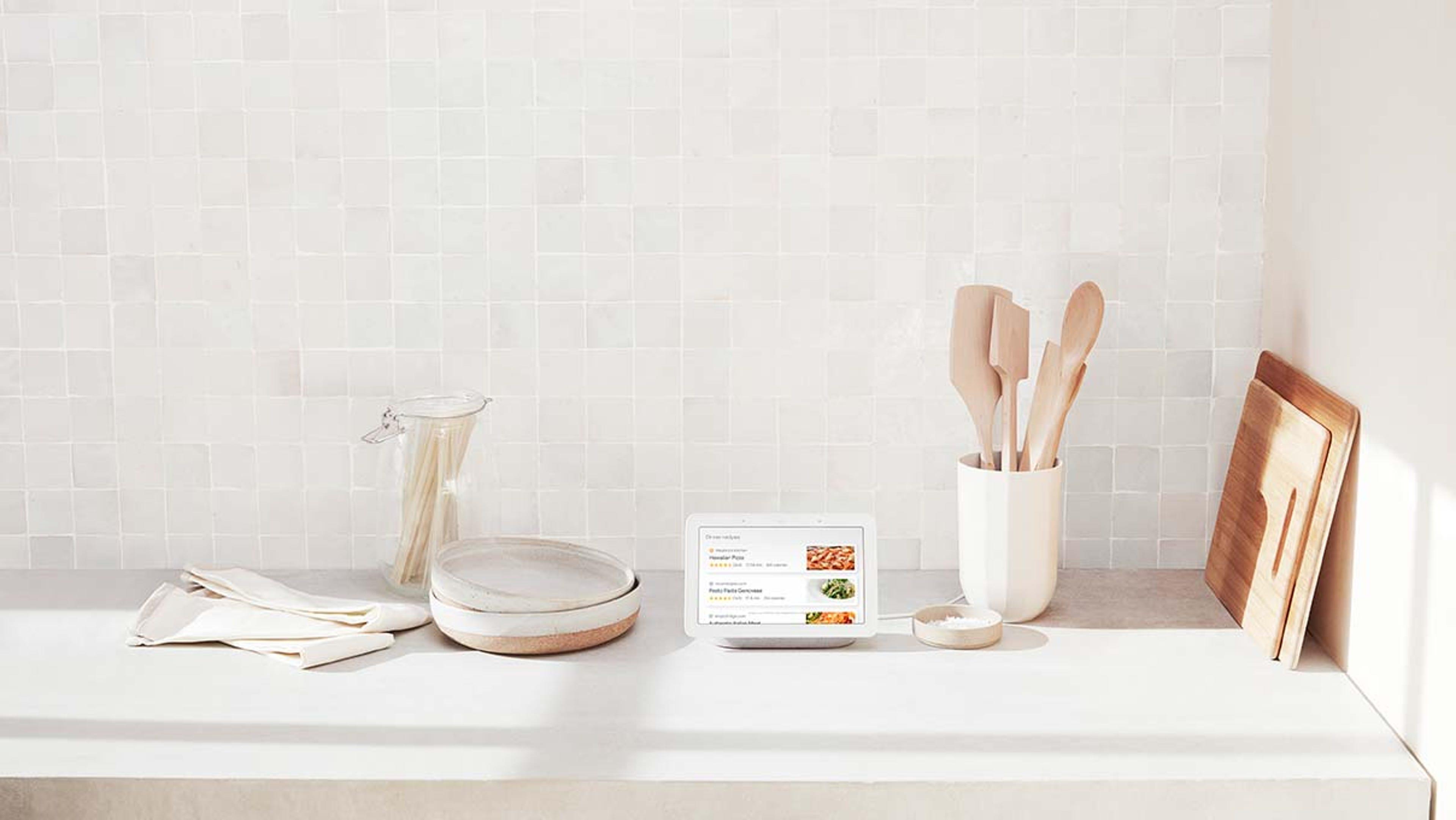 google nest hub kitchen smart display