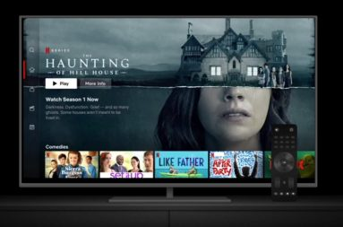 image of a tv with the netflix interface showing title card for the haunting of hill house