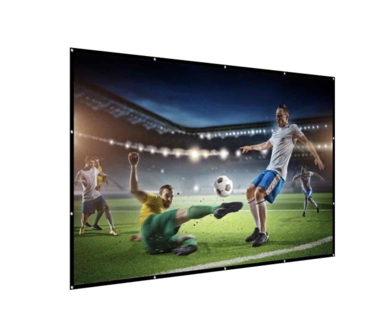 projector screens indoor and outside