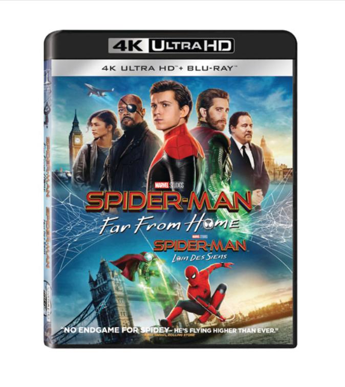 spiderman far from home blu-ray disc family fun