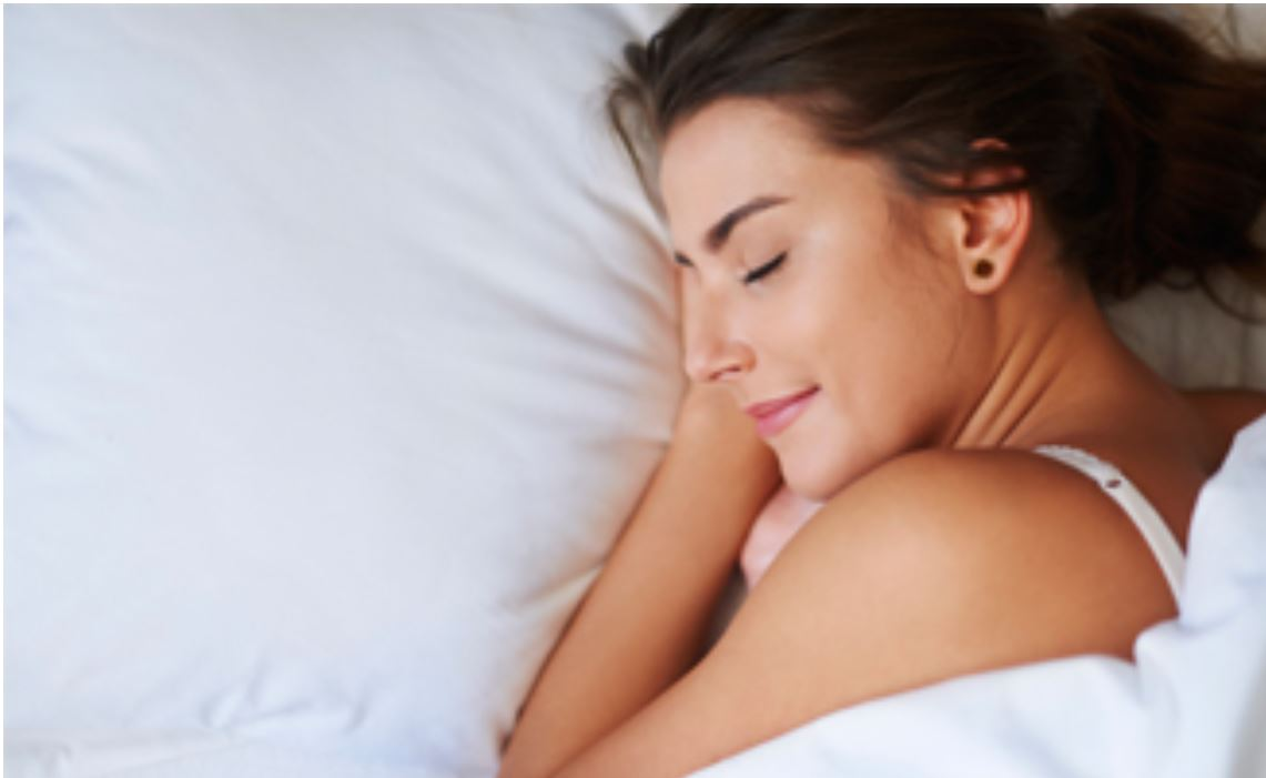 image of woman sleeping soundly