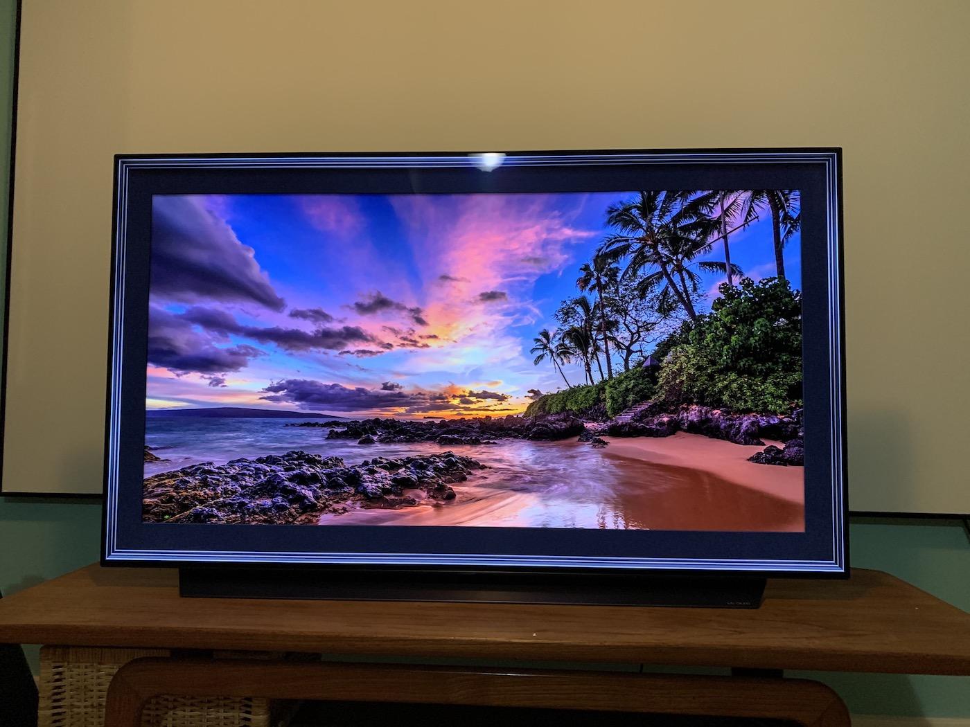 LG C9 OLED 4K TV Ambient Mode