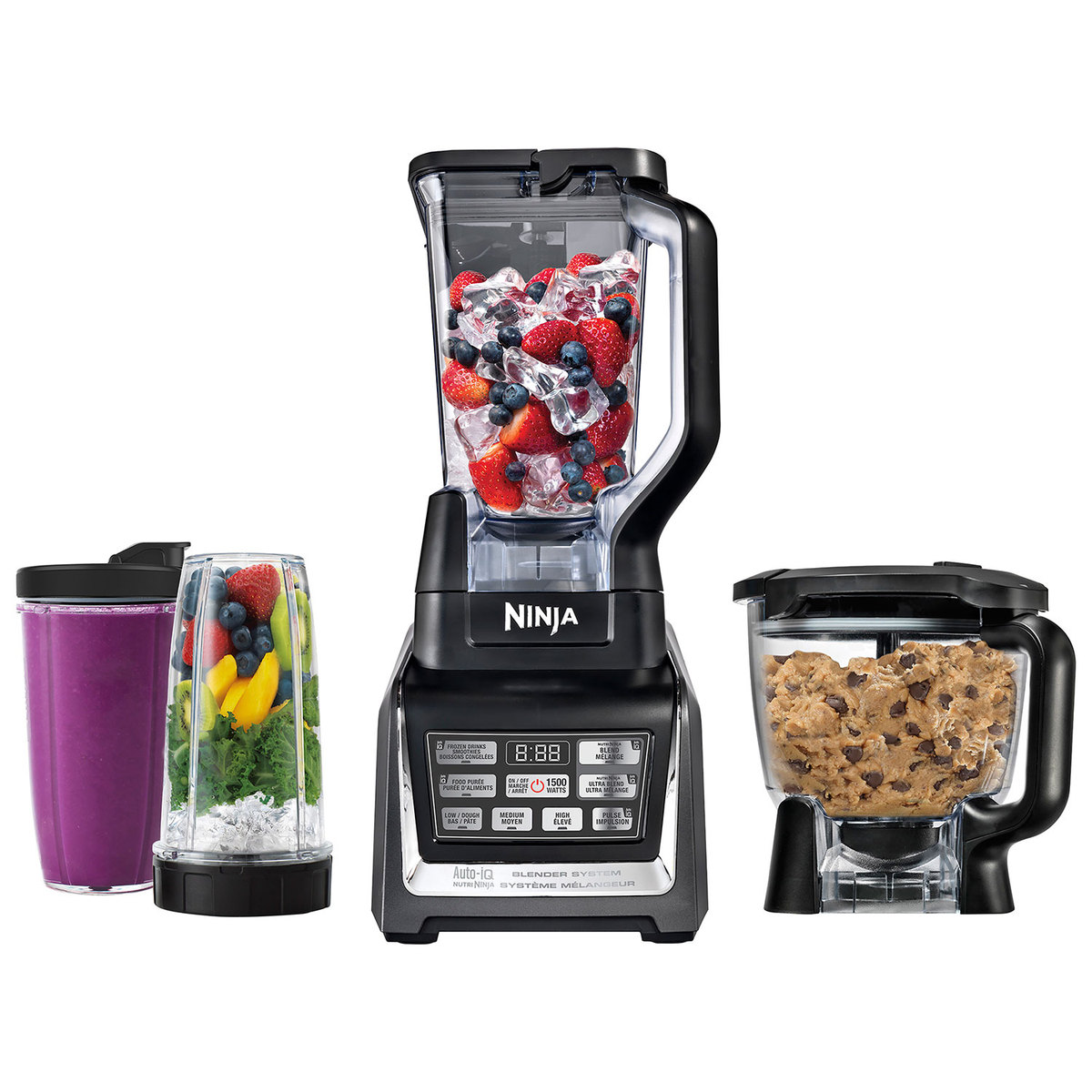 blender with accessories and cups