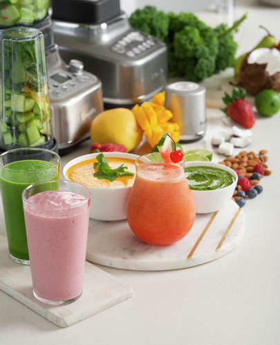 smoothies and dip from blender