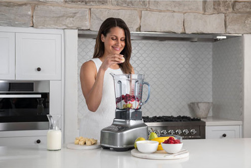 woman with blender