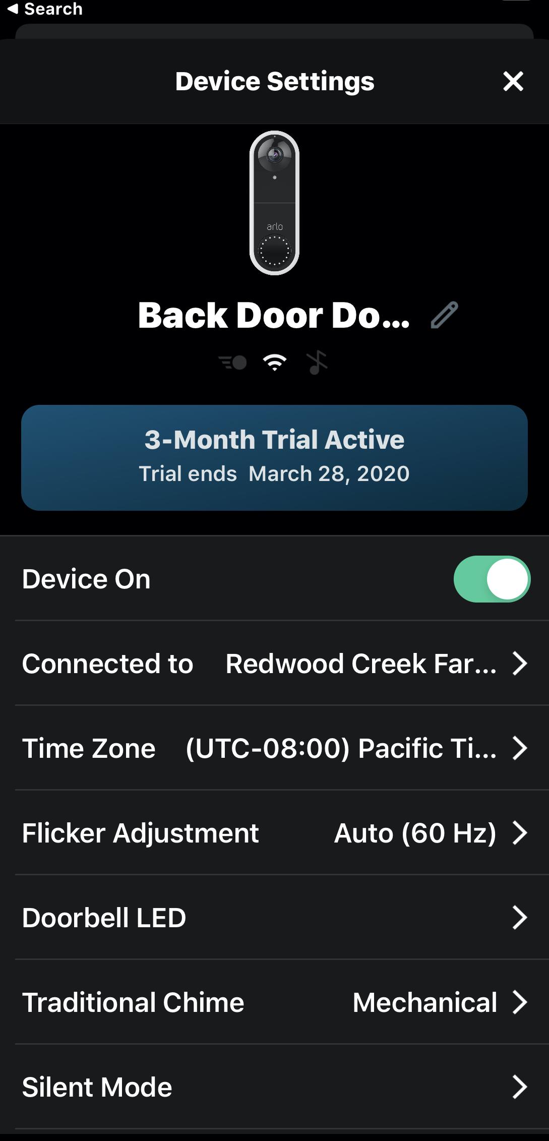 Arlo Video Doorbell Options