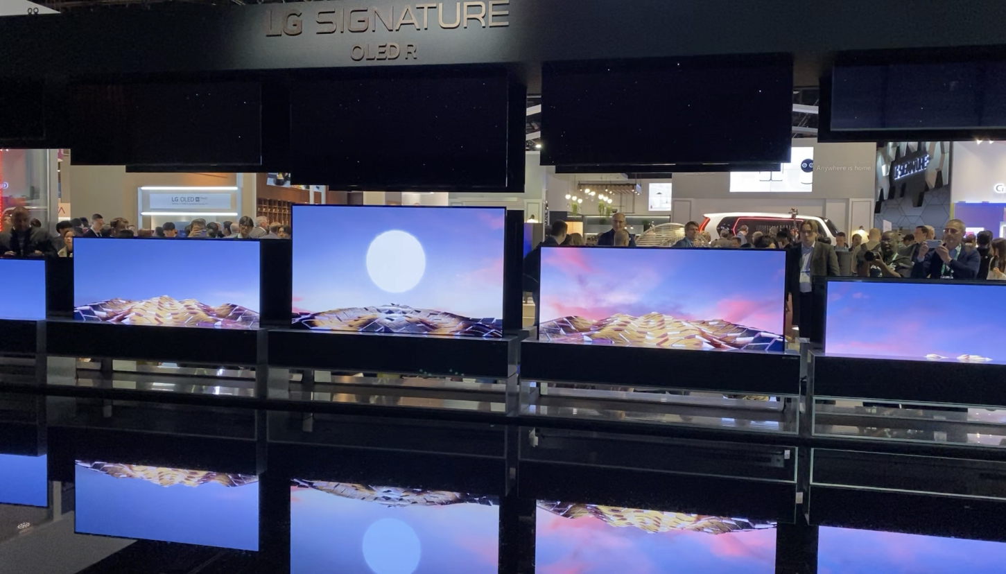 LG CES 2020, roll up TV