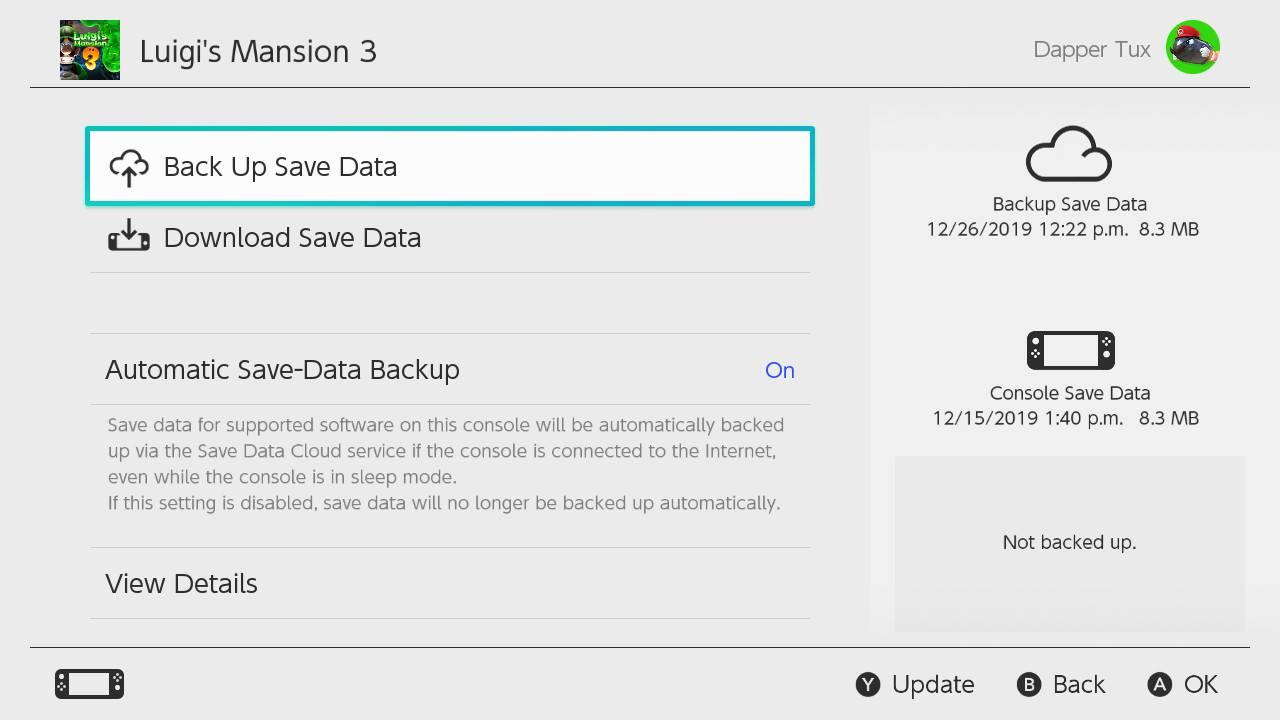 Nintendo Switch Online Saves
