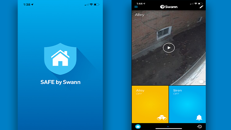 Swann Floodlight Camera Security Interface