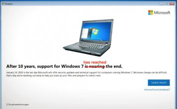 Windows 7 support is over