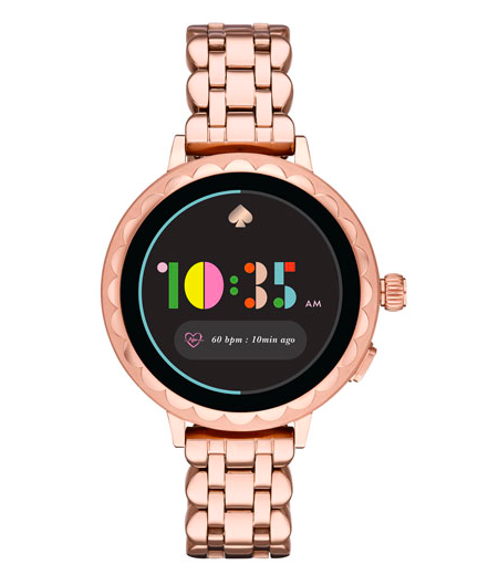 kate spade new york Scallop 2 42mm Smartwatch with Heart Rate Monitor - Rose Gold