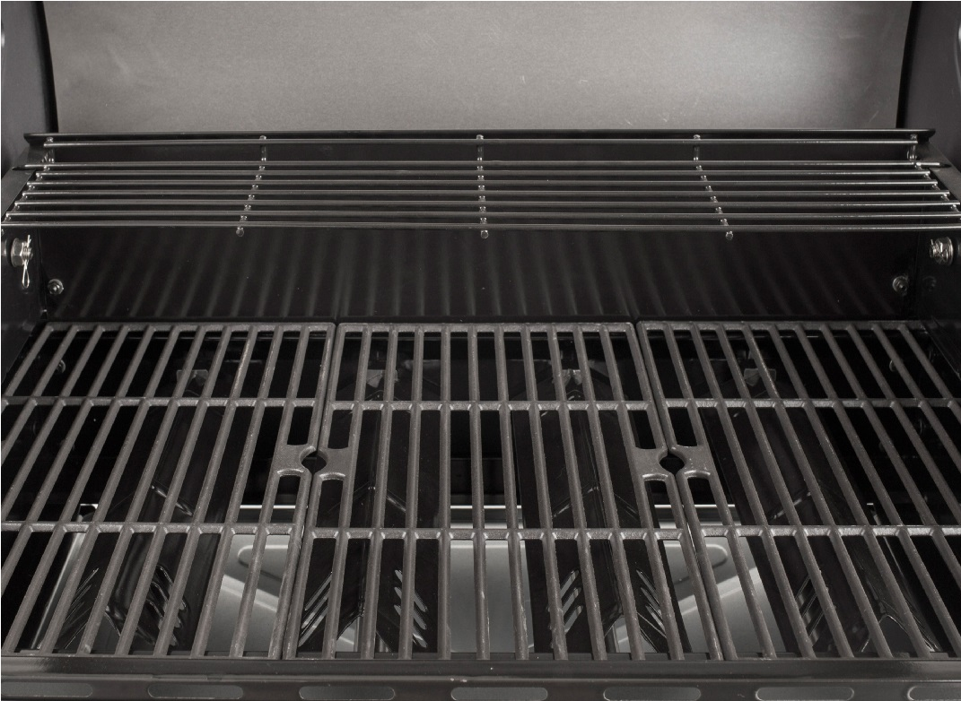 image of an open BBQ showing the grate