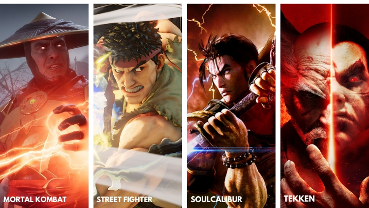 image of four of the most popular action games