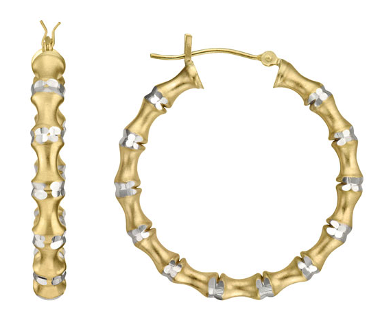 Le Reve gold white gold earrings