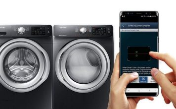 Samsung smart washer and dryer