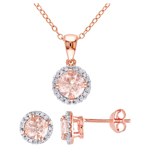 rose gold and morganite jewelry