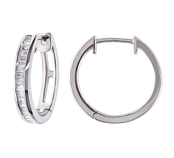 the perfect hoop earrings with diamonds