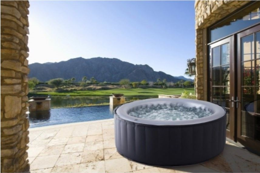 image of a hot tub on a patio