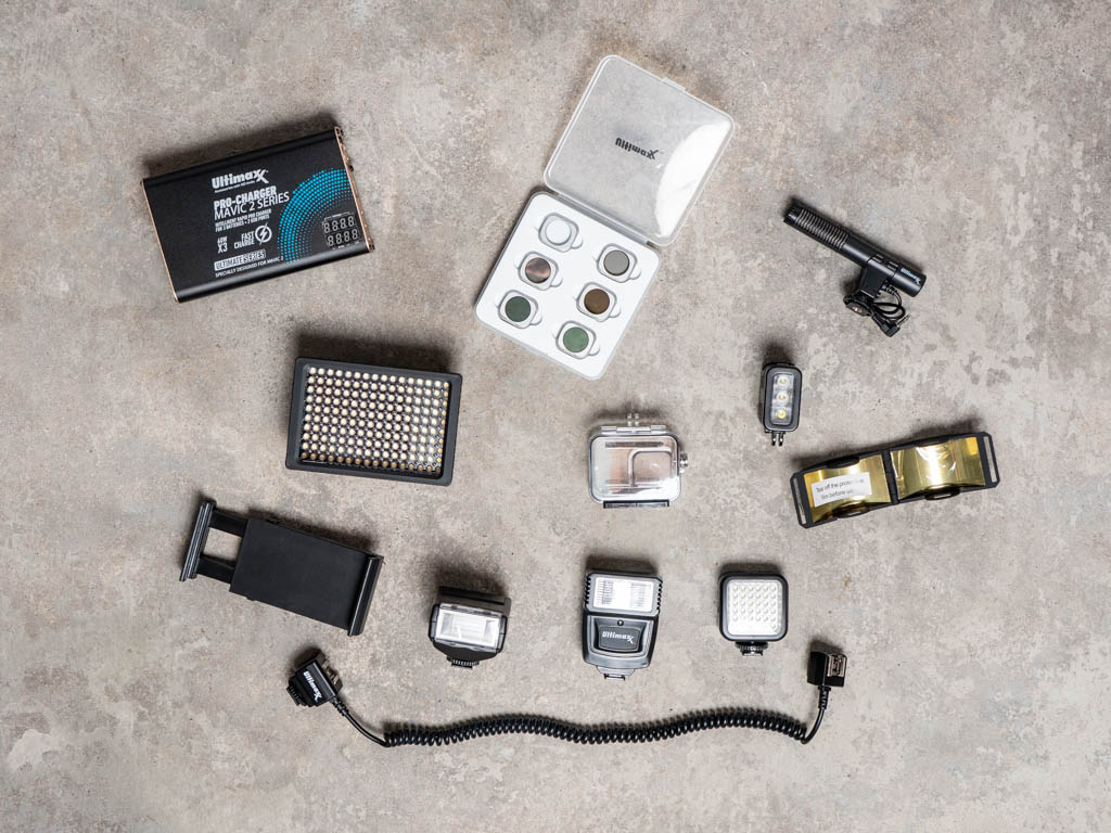 A photo of a collection of Ultimaxx accessories