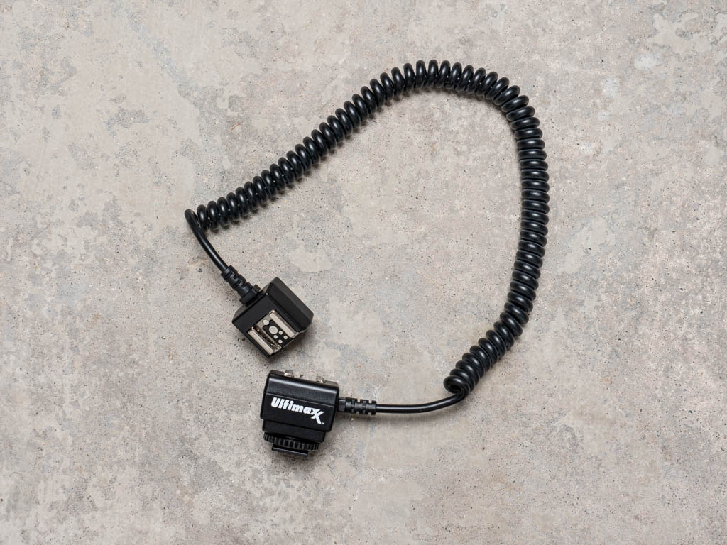 A photo of the Ultimaxx dedicated off-camera TTL shoe cord