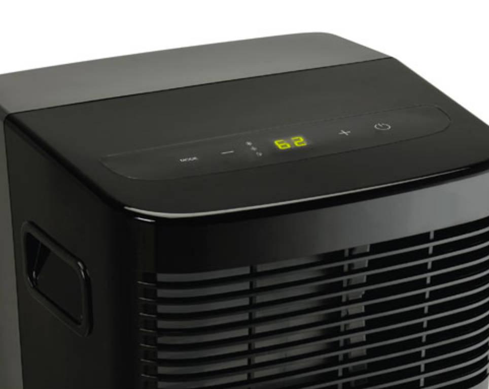 black portable AC