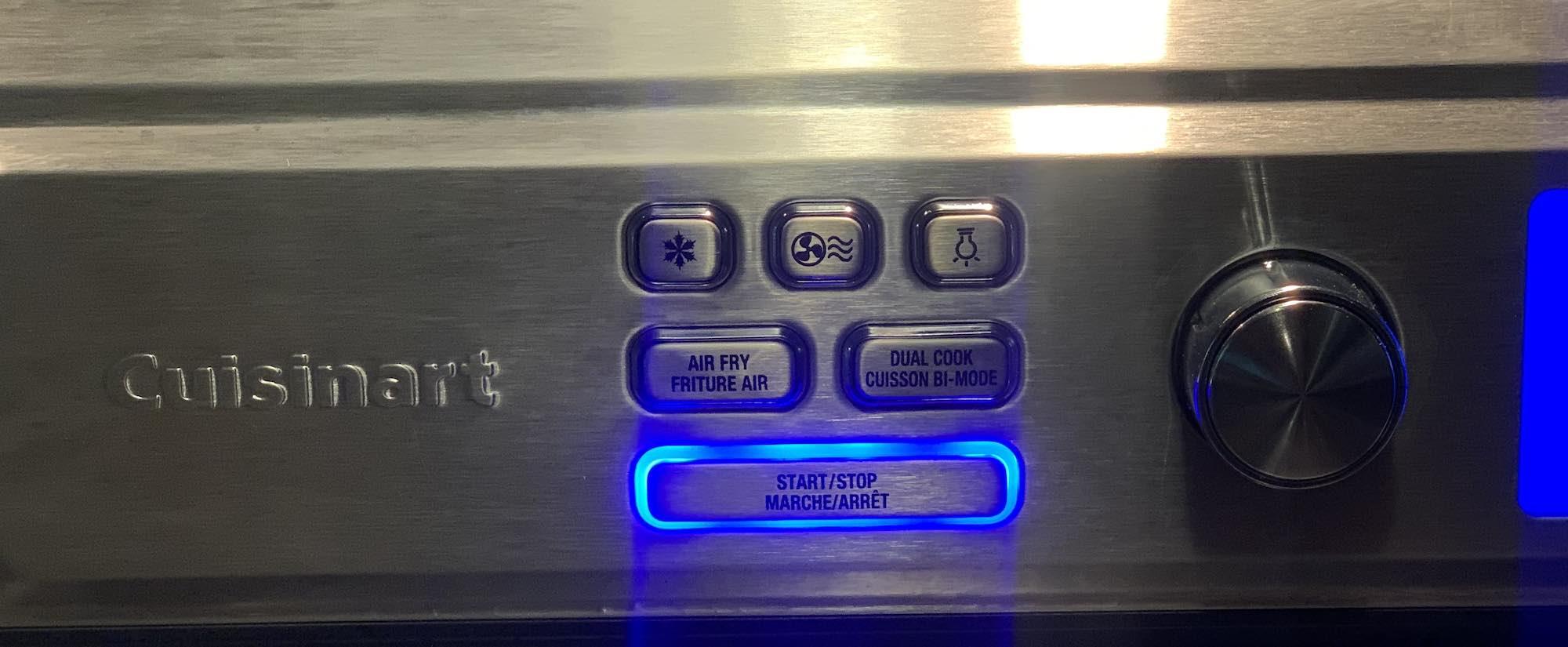 Cusinart Airfryer toaster oven menu