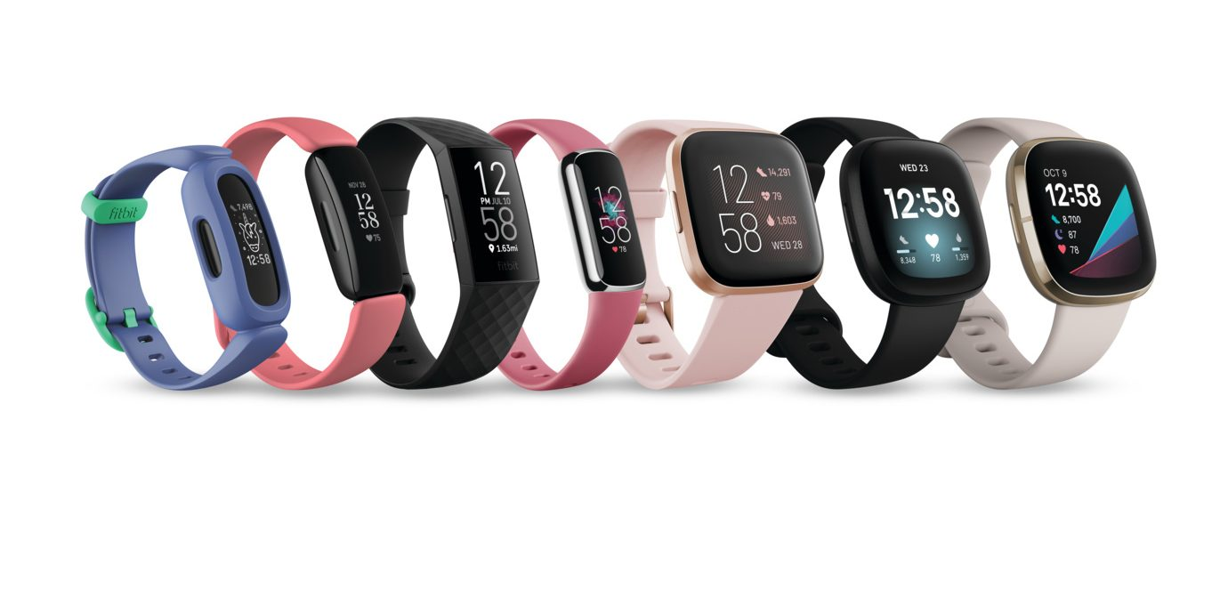 Fitbit family of fitness trackers and smart watches