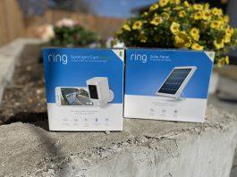 Ring spotlight cam, solar panel review