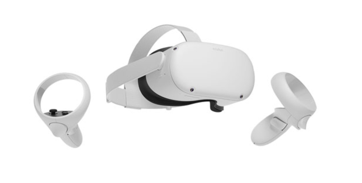 image of the Oculus Quest 2 VR headset and touch controllers