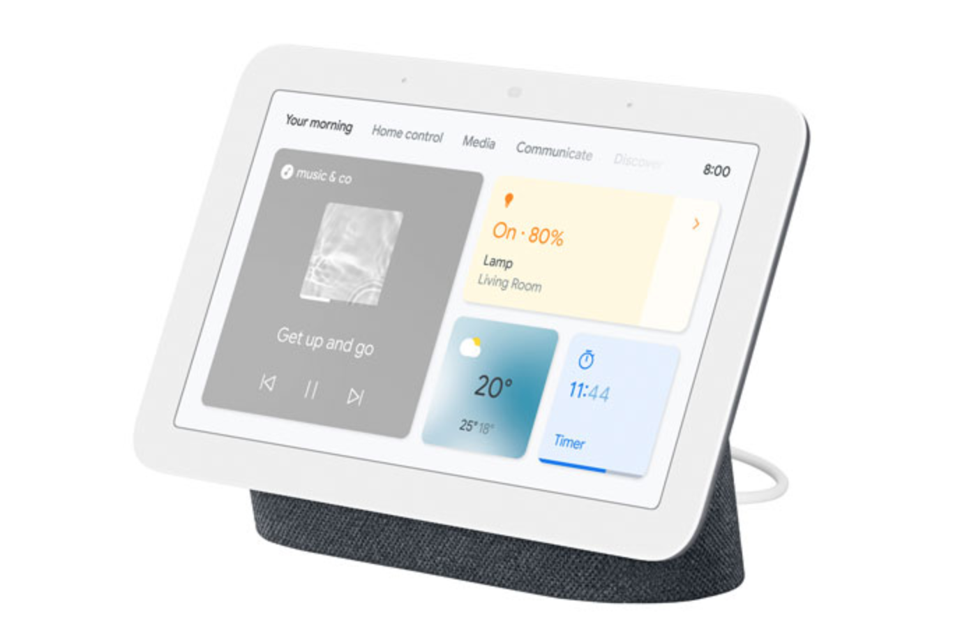 image of the Google Nest Hub 2nd Gen displaying various apps